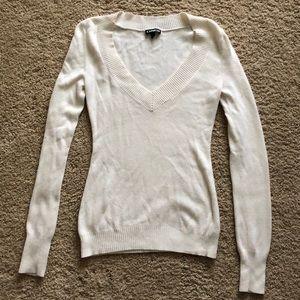 Cream colored Express sweater